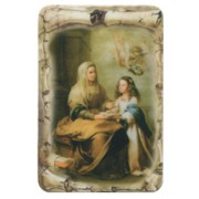 "St.Anne Scroll Fridge Magnet cm.4x6 - 2 1/2""x 4 1/4"""
