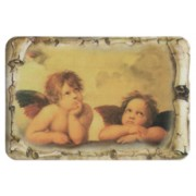 "Raphael`s Angels Scroll Fridge Magnet cm.4x6 - 2 1/2""x 4 1/4"""