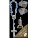 Estatua del coche de la Sagrada Familia con el rosario década