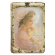 "Mother and Child Scroll Fridge Magnet cm.4x6 - 2 1/2""x 4 1/4"""