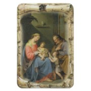 "Holy Family Scroll Fridge Magnet cm.4x6 - 2 1/2""x 4 1/4"""