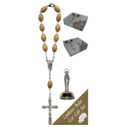 Lourdes Car Statue SCBMC7 with Decade Rosary RDO28