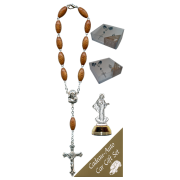 Medjugorje Car Statue SCBMC8 with Decade Rosary RD164-1