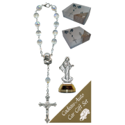 Medjugorje Car Statue SCBMC8 with Decade Rosary RD850A-15