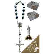 St.Francis Car Statue SCBMC9 with Decade Rosary RD850A-14