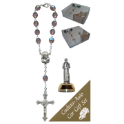 St.Francis Car Statue SCBMC9 with Decade Rosary RD850A-16