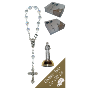 St.Francis Car Statue SCBMC9 with Decade Rosary RDT400-15