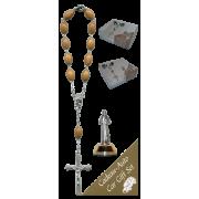 St.Francis Car Statue SCBMC9 with Decade Rosary RDO28
