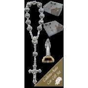 St.Rita Car Statue SCBMC11 with Decade Rosary RD1480S