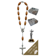 St.Francis Car Statue SCBMC13 with Decade Rosary RD164-1