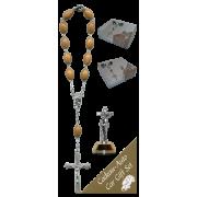 St.Francis Car Statue SCBMC13 with Decade Rosary RDO28