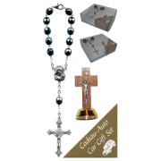 Crucifix Car Statue SCBMC22 with Decade Rosary RD850A-14