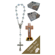 Crucifix Car Statue SCBMC22 with Decade Rosary RDT400-15