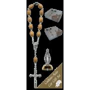 Cap De La Madeline Car Statue SCBMC24 with Decade Rosary RDO28