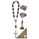 St.Anne De Beaupre Car Statue SCBMC25 with Decade Rosary RD164-2