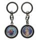 Divine Mercy and St.Christopher Keychain