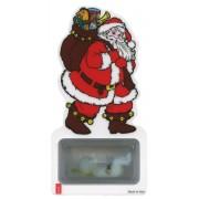 Signet de Père Noël avec le bébé Jésus lumineuse
