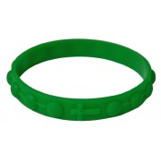 Silicone Elastic Rosary Bracelet in Green