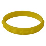 Silicone Elastic Rosary Bracelet in Yellow