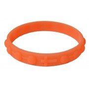 Silicone Elastic Rosary Bracelet in Orange