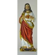 "Sacred Heart of Jesus Colour Statue 11 1/4"""