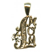 Number One Mom Pendent Gold Plated