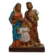 """Holy Family Resin Statue 12cm - 5"""""""