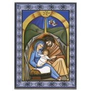 Holy Family Laminated Wood Icon Plaque