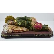 "Sleeping Joseph Polyresin Statue 12"" - 30cm"