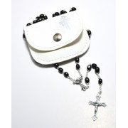 Wood Rosary with Pouch