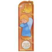 "Guardian Angel and Candle PVC Bookmark cm.5x15 - 2""x6"""