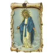 "Miraculous Raised Scroll Plaque cm.10x15 - 4""x6"""