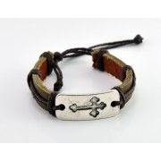 Adjustable Leather Bracelet - Natural Colour