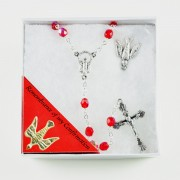 Confirmation Gift Set with Rosary and Lapel Pin