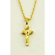 Gold Plated Cross Pendant + Chain