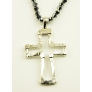 Silver Plated Cross Pendant + Chain