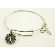 Silver Plated Bracelet with Dangling Charms