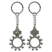 St.Benedict Basco Rosary Ring Keychain