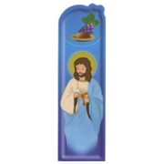 "Communion Blue PVC Bookmark cm.5x15 - 2""x6"""