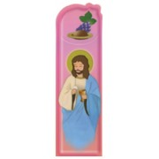 "Communion Pink PVC Bookmark cm.5x15 - 2""x6"""