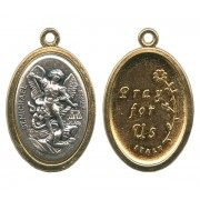 St.Michael / Pray for Us Oval Medal