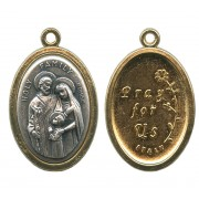 The Holy Family / Pray for Us Oval Medal