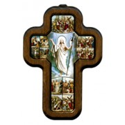 """Stations of the Cross with Wood Frame cm.10x14.5 - 4""""x5 3/4"""""""
