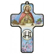 "Communion Wood Laminated Cross cm.13x9 - 5""x 31/2"""