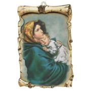 "Ferruzzi Raised Scroll Plaque cm.10x15 - 4""x6"""