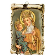 "St.Anne De Beaupre Raised Scroll Plaque cm.10x15 - 4""x6"""