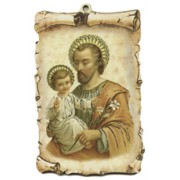 "St.Joseph Scroll Plaque cm.10x15 - 4""x6"""