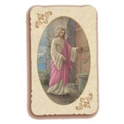 "Jesus at the Door Holy Card Antica Series cm.6.5x10 - 2 1/2""x4"""