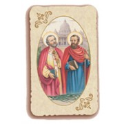 "St.Peter and St.Paul Holy Card Antica Series cm.6.5x10 - 2 1/2""x4"""