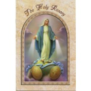 """Miraculous/ The Holy Rosary Book English Text cm.9.5x15.5 - 3 3/4""""x 6"""""""